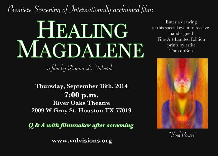 Healing Magdalene Premiere September 18 2014
